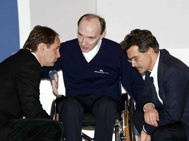 Gerhard Berger, Frank Williams, Mario Theissen