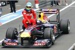 Fernando Alonso (Ferrari) als Fahrgast bei Mark Webber (Red Bull)