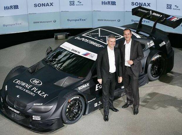 Jens Marquardt und Klaus Draeger anlässlich der Präsentation des BMW M3 DTM Concept Car