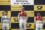 Bruno Spengler, Mattias Ekström und Mike Rockenfeller