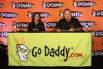 Danica Patrick und GoDaddy-Chef Bob Parsons