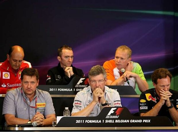 Ross Brawn (Teamchef), Christian Horner (Teamchef)