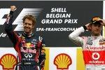 Sebastian Vettel (Red Bull) und Jenson Button (McLaren)