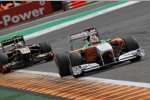 Adrian Sutil (Force India) vor Witali Petrow (Renault)