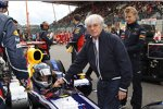 Sebastian Vettel (Red Bull) und Bernie Ecclestone (Formel-1-Chef)