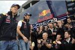 Sebastian Vettel (Red Bull) und Mark Webber (Red Bull)