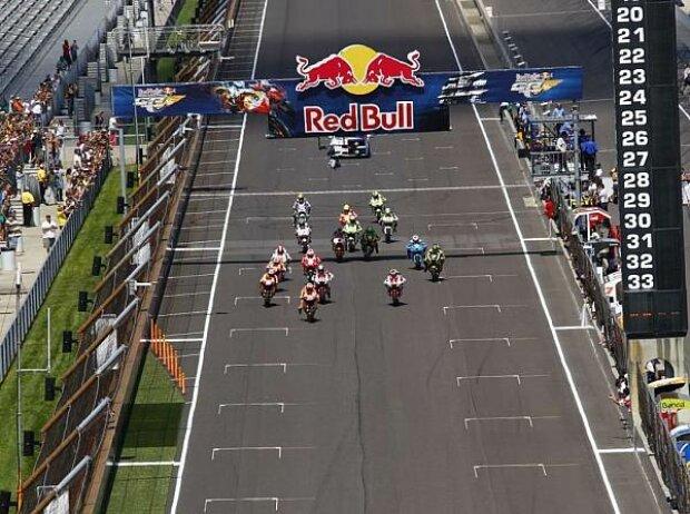 Start zum MotoGP-Rennen in Indianapolis 2011