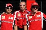 Felipe Massa, Stefano Domenicali und Fernando Alonso