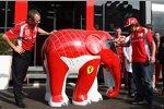 Stefano Domenicali (Teamchef) und Fernando Alonso (Ferrari)
