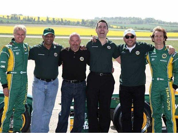 Heikki Kovalainen, Mike Gascoyne, Jarno Trulli