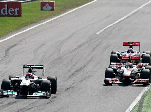 Michael Schumacher, Lewis Hamilton, Jenson Button