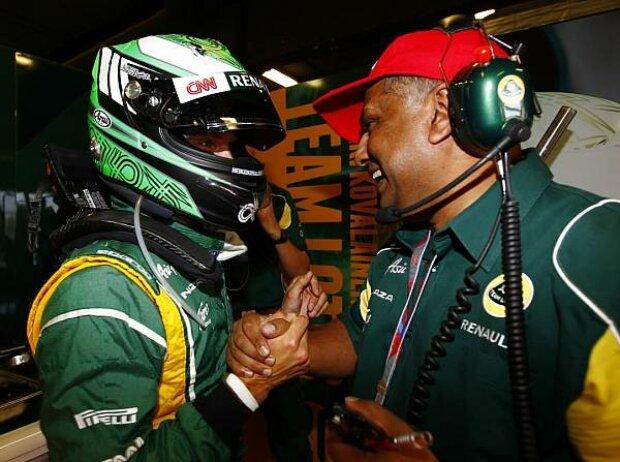 Heikki Kovalainen und Tony Fernandes
