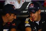 Sebastien Buemi (Toro Rosso) und Sebastian Vettel (Red Bull)
