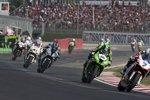 Carlos Checa (Althea), Tom Sykes (Kawasaki), Leon Haslam (BMW), Noriyuki Haga (PATA), Marco Melandri (Yamaha)