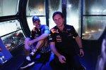 Sebastian Vettel (Red Bull) Christian Horner (Teamchef)