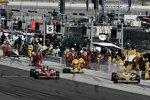 Ryan Hunter-Reay (Andretti) und Scott Dixon (Ganassi)