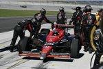 Für Marco Andretti (Andretti) endete das Rennen in der Boxengasse