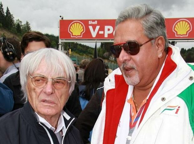 Bernie Ecclestone (Formel-1-Chef), Vijay Mallya (Teameigentümer)