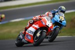 Alvaro Bautista (Suzuki) und Nicky Hayden (Ducati)