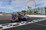 Das Chevrolet-Trio Robert Huff, Alain Menu und Yvan Muller