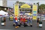 Podium der Rallye Spanien
