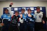 Yvan Muller (Chevrolet), Tom Coronel (ROAL), Alain Menu (Chevrolet) und Robert Huff (Chevrolet)