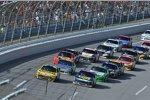 Race Action in Talladega mit A.J. Allmendinger und Marcos Ambrose (beide RPM) an der Spitze