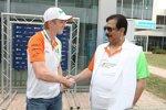 Nico Hülkenberg (Force India) mit Subrata Roy Sahara
