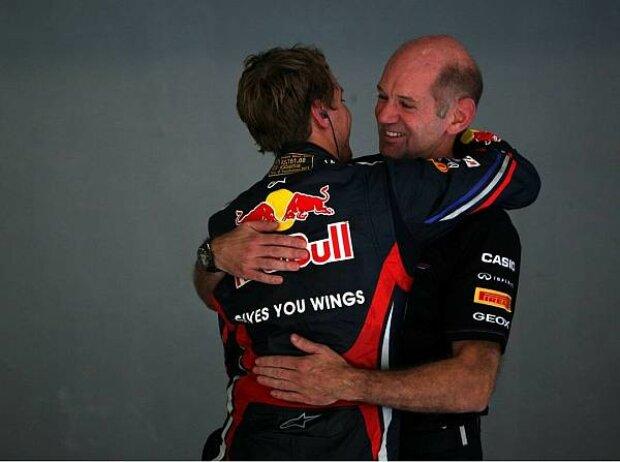 Sebastian Vettel und Adrian Newey