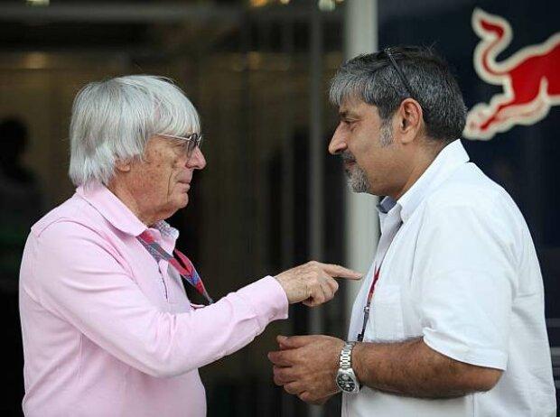 Bernie Ecclestone und Vicky Chandhok