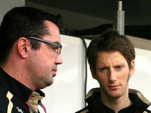 Eric Boullier und Romain Grosjean
