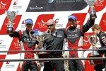 Das JRM-Duo Michael Krumm/Lucas Luhr feiert den Gewinn der Fahrer-Weltmeisterschaft