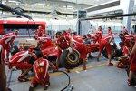Boxenstopptraining bei Ferrari