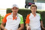 Adrian Sutil (Force India) und Nico Hülkenberg (Force India)