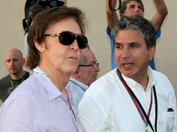 Paul McCartney und Pasquale Lattuneddu