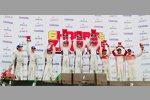 Edoardo Mortara, Darryl O'Young und Alexandre Imperatori (Audi) siegten in der GTC-Klasse