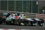 Michael Schumacher und Nico Rosberg (Mercedes)
