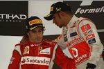 Fernando Alonso (Ferrari) und Lewis Hamilton (McLaren)