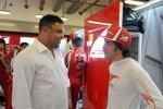 Ronaldo und Fernando Alonso (Ferrari)