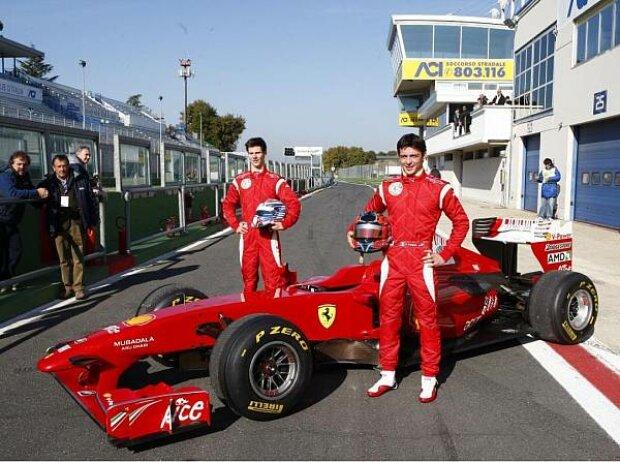 Michael Lewis und Sergio Campana im Ferrari F60
