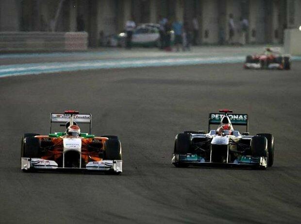 Michael Schumacher, Adrian Sutil