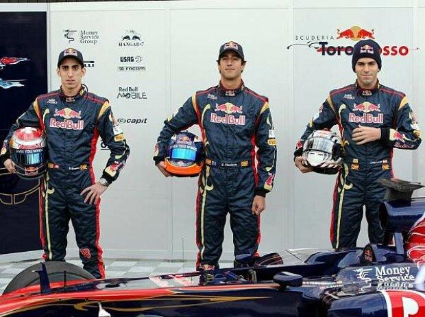 Jaime Alguersuari, Daniel Ricciardo, Sebastien Buemi