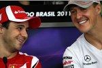 Felipe Massa (Ferrari) und Michael Schumacher (Mercedes)