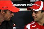 Jenson Button (McLaren) und Felipe Massa (Ferrari)