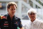Christian Horner (Teamchef) (Red Bull) und Bernie Ecclestone