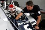 Nelson Piquet fährt Demorunden im Brabham-Ford BT49