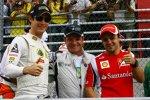 Brasilianer in Brasilien: Bruno Senna (Renault), Rubens Barrichello (Williams) und Felipe Massa (Ferrari)
