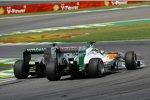 Nico Rosberg (Mercedes) und Adrian Sutil (Force India)