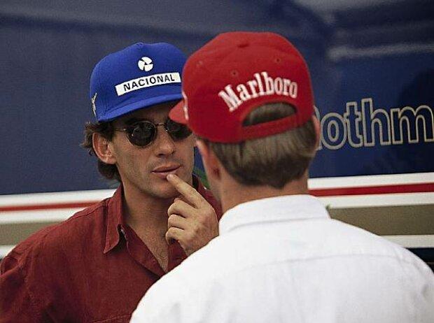 Ayrton Senna und Rubens Barrichello