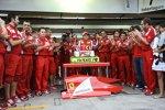 Felipe Massa feiert seinen 100. Start für Ferrari
